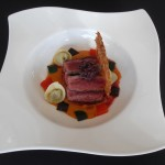Black Onyx featured at Blue Grill, Yas Island Rotana. Black Onyx Beef Flat Iron, Tortellini of Courgette