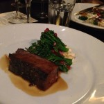 Black Onyx featured at Deery's. Slow cooked Black Onyx short rib served with celeriac remoulade, broccolini & pomegranate