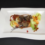 Black Onyx featured at Blue Grill, Yas Island Rotana. Dry Spiced Black Onyx Beef Rib and Baby Carrot Salad