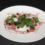 Black Onyx featured at Blue Grill, Yas Island Rotana. Black Onyx Beef Rump & Beetroot Salad