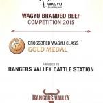 GOLD WAGYU AWARD 2015