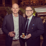 Rangers Valley Marketing Manager Andrew Moore (left) and attending guest (right).
